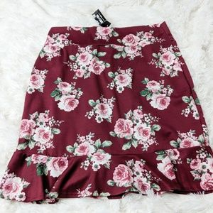 Agnes & Dora Flounce Pencil Skirt XXL